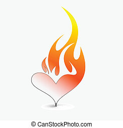 fire icon - vector illustration