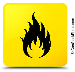 Fire icon yellow square button