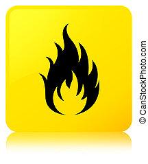 Fire icon yellow square button