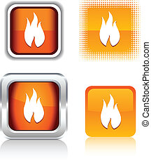 Fire icons.