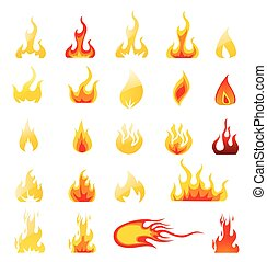 Fire Icons Vector Set