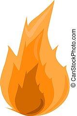 Fire, illustration, vector on white background.