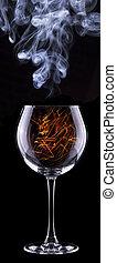 fire in a glass