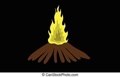 Fire in dark