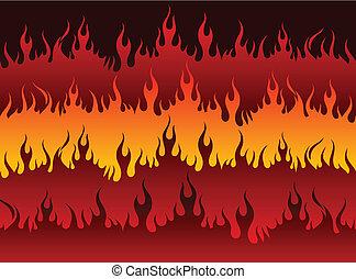 Fire in Hell Original Vector Illustration