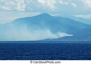 Fire in the corsican mountains
