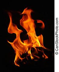 Fire in the dark