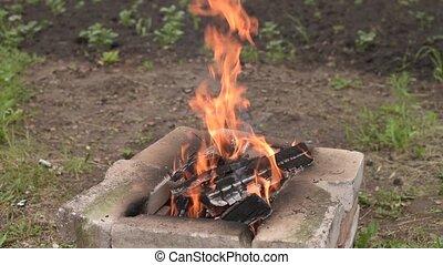 Fire in the garden