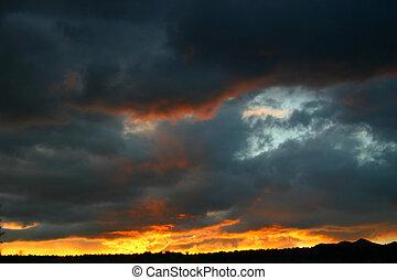 An especially vivid sunset over southern Colorado