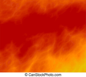 fire in the sky - mystic smoke for hot abstract background...