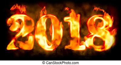 Fire inscription 2018, 3D rendering