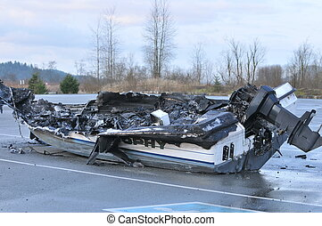 fire insurance - watercraft that caught on fire