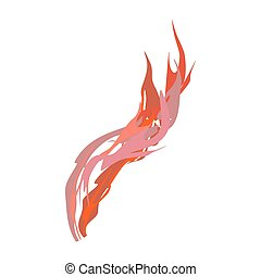 Fire isolated. Red Flames on white background