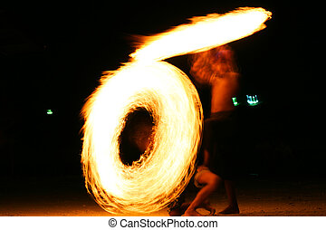 Fire-jugglers, Thailand.