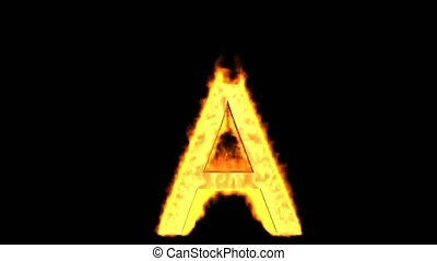 fire letter A,uppercase.