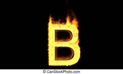 fire letter B,uppercase.