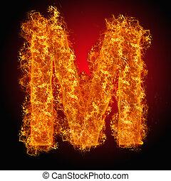 Fire letter M