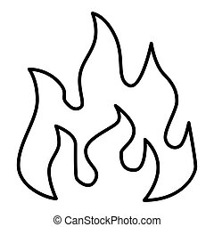 Fire Line Icon. Vector icon isolated on white. Outline design. Eps 10