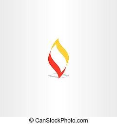 fire logo flame vector illustration element design