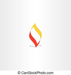 fire logo flame vector illustration element design