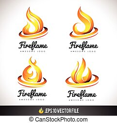 Fire Logo Icon. Flame Vector Design