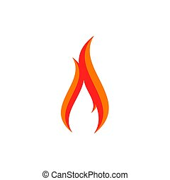Fire logo sign icon