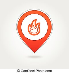 Fire map pin icon