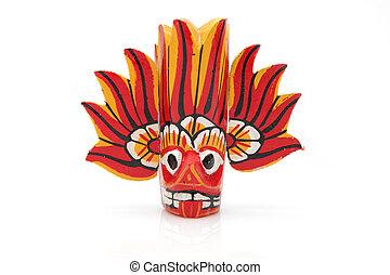 Fire Mask - Wooden Mask from Sri Lanka