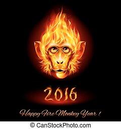 Fire Monkey Head