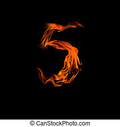 """Fire number """"5"""""""