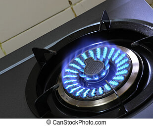 fire of gas stove