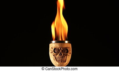 Fire on Skull Head