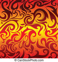 Fire pattern - Abstraction created in tribal art style
