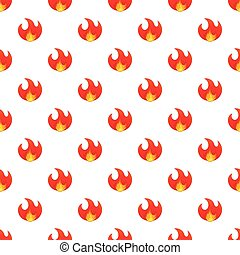 Fire pattern, cartoon style
