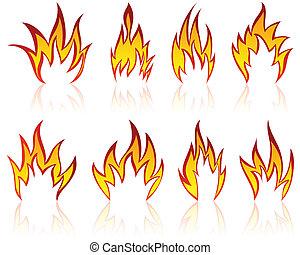 fire patterns set