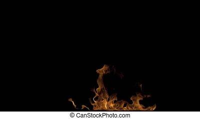 Fire Performer Blowing Fire - 4K Fire performer blowing...