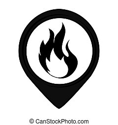 fire pin pointer caution signal icon