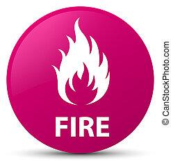 Fire pink round button