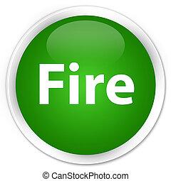 Fire premium green round button