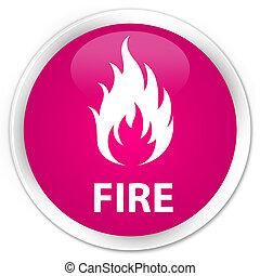 Fire premium pink round button