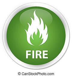 Fire premium soft green round button