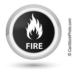 Fire prime black round button