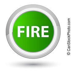 Fire prime green round button