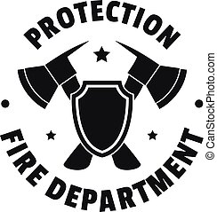 Fire protection department logo, simple style