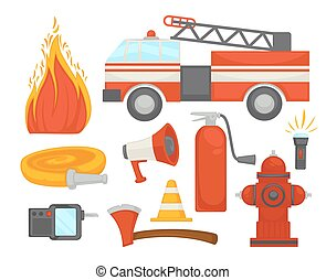 Fire protection secure team poster of firefighter rescue...