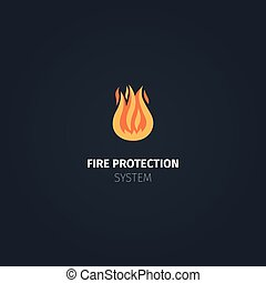 Fire protection system icon