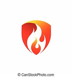 fire protection vector logo design