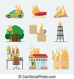Fire risk icons