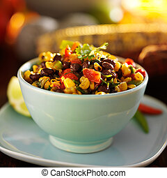 fire roasted mexican black bean and corn salsa