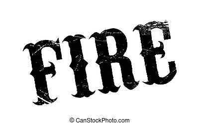 Fire rubber stamp